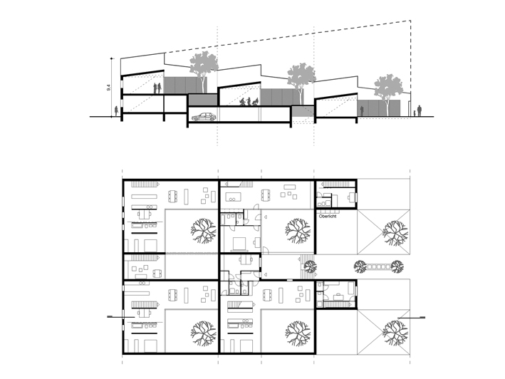 Great Row Houses, Slab Structure; Patio Houses